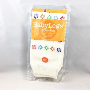 NWT Baby Legs cream with flowers